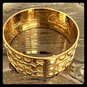 Coach Large Gold Bangle Classic C Bracelet